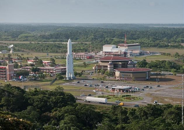 Vue aérienne du Centre spatial guyanais